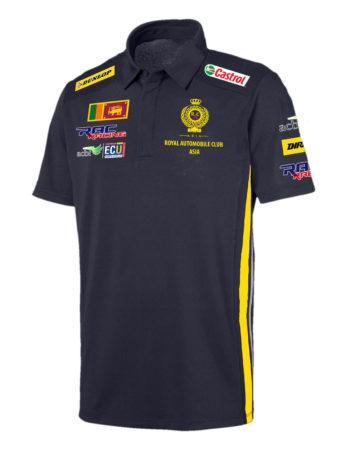 RAC RACING Men's Collared T Shirt